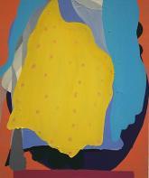 """Ashleigh Bartlett """"lemon suit"""" 2014 Oil on Panel 36"""" x 30"""" *Courtesy of the Paul Kuhn Gallery"""