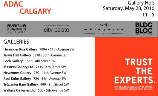 ADAC Calgary Gallery Hop Postcard